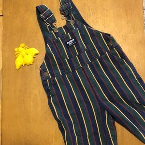 Oshkosh Vintage Striped Overalls